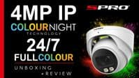 SPRO 4MP White IP Fixed Lens Turret with COLOUR NIGHT
